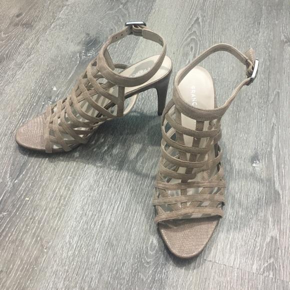 Franco Sarto Shoes - Franco Sarto strappy leather cage heels